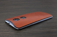 Moto X (2nd Gen) Leather (MOTX2-21) Rust edge view