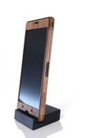 Xperia Z2 / Z3 / Compact (SXZ2-3) Walnut front panel in stand