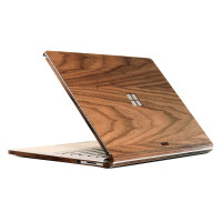 Toast cover for Surface Book in Walnut, with windows cutout.