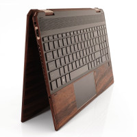 "Toast wood trackpad surround for HP Spectre 15"" in rosewood."