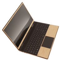 "Toast wood screen and trackpads surrounds for HP Envy 15"" in maple."