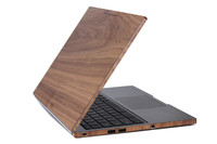 Chomebook Pixel with side wraps in walnut