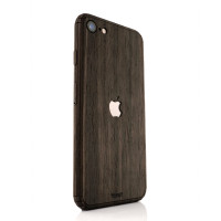 Toast wood iPhone SE (2nd gen) cover in ebony.