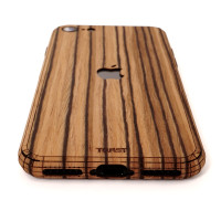 Toast wood iPhone SE (2nd gen) cover in zebrawood.