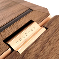 Toast HP Spectre wood cover in walnut, detail image.