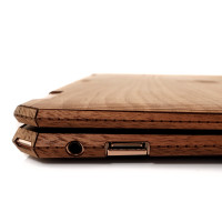 Toast HP Spectre wood cover in walnut, side wrap detail, some models do not include side wraps.