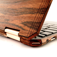 Toast HP Spectre wood cover in rosewood, detail.