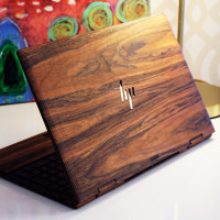 Toast HP Envy wood laptop cover in eco rosewood.