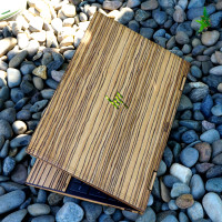 Toast HP Envy wood laptop cover in eco zebrawood.