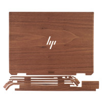 Toast wood cover for HP Spectre kit including top cover and side wraps.