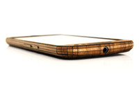 Moto G4 Walnut front edge view
