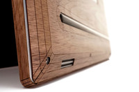 """Dell XPS 15"""" real wood bottom cover by Toast."""