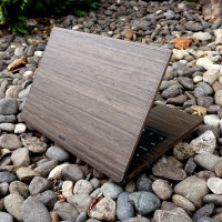 Toast real wood cover for Dell XPS laptop, in ebony.