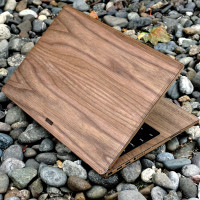 """Dell XPS 15"""" real wood protective cover by Toast."""