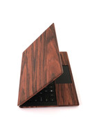 Real wood skin for Dell laptop XPS in Rosewood.