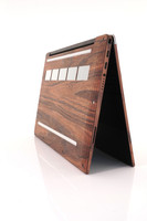 """Amazing wood cover for the bottom of Dell XPS 13"""" 7390 in rosewood."""