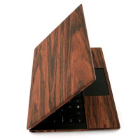 """Dell XPS 13"""" 7390 wooden skin in rosewood."""