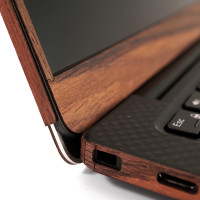 """Detail shot of Toast's Dell XPS 13"""" 7390 in rosewood, optional screen surround."""