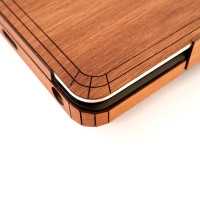"""Detail of the crazy cool laser cut Toast cover for Dell XPS 13"""" 7390 in lyptus."""