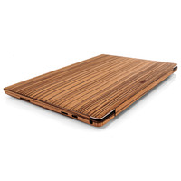 Detail shot of Toast's Dell XPS  in Zebrawood.