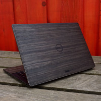 Toast ebony wood cover for Dell laptop XPS.