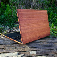 Lyptus wood cover for Dell laptop.