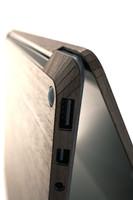 Surface Laptop detail in bamboo.