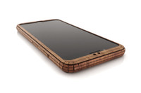 iPhone 8 front cover in walnut, detail photo.