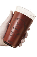 Leather-wrapped Pint Glasses: Wedding Edition