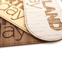 Custom Real Wood Stickers