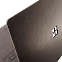 Toast leather cover for Surface Laptop, in Stout black.