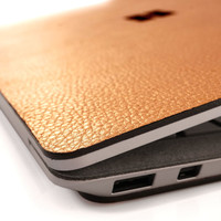 Toast leather cover for Surface Laptop, in Moscow Mule copper leather.