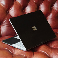 Toast leather cover for Surface Laptop, with trackpad surround,  in Stout black.