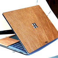 Toast leather cover for Surface Laptop, with trackpad surround, in Moscow Mule copper leather.