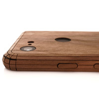 Pixel 2 Toast Cover in walnut, detail.