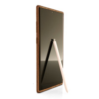 Toast wood cover for Samsung Galaxy Note 10+ in walnut, front screen cover.