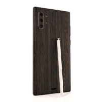 Toast wood cover for Samsung Galaxy Note 10+ in ebony.