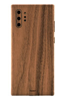 Toast wood cover for Samsung Galaxy Note 10+ in walnut.
