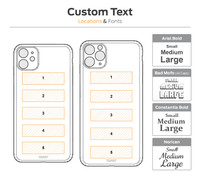 Toast cover text location diagram for iPhone 11, 11 Pro, 11 Pro Max.