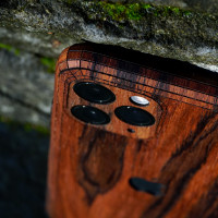 Toast iPhone 11  Pro wood cover in Rosewood.