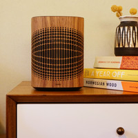 Toast walnut wood cover from Sonos One smart speaker.