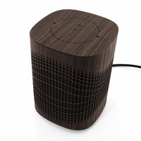 Toast wood cover from Sonos One in ebony, detail.