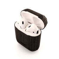 Toast AirPods case cover in ebony.