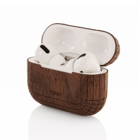 Toast AirPods Pro case cover in walnut.