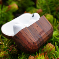 Toast AirPods Pro case cover in rosewood, lifestyle image.