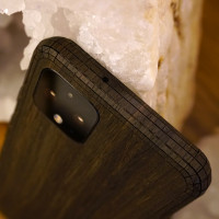 Toast Pixel 4 wood cover in ebony.