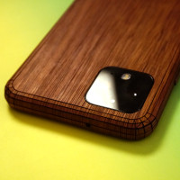 Toast Pixel 4 wood cover in walnut.