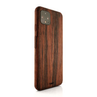Toast Pixel 4 wood cover in rosewood.