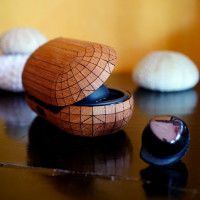 Toast wood cover for Samsung Galaxy Buds + in lyptus wood.
