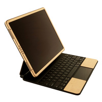 Toast wood cover for Magic Keyboard with optional screen surround in maple.